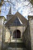 Munshausen kościelny wejście przy Munshausen, Luksemburg zdjęcie stock