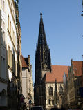 Munster. The Tower of Saint Lambert 's Church in Munster in Germany Royalty Free Stock Images