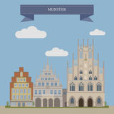 Munster, city in Germany Royalty Free Stock Image