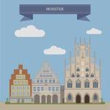 Munster, ciudad en Alemania stock de ilustración