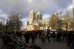 Munster Dom i Tyskland Arkivfoto