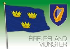 Munster regional flag, Eire, Ireland Stock Photo