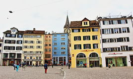 Munsterhof square Zurich Switzerland. Münsterhof is a town square situated in the Lindenhof quarter in the historical center of Zürich, Switzerland. Mü Royalty Free Stock Photos