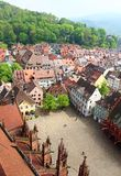 Munsterplatz and Freiburg old town, Germany Stock Photography