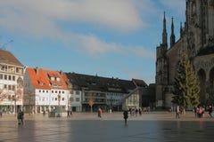 Munsterplatz-Quadrat Ulm, Baden-Wurttemberg, Deutschland Lizenzfreies Stockfoto