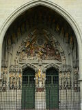 Munsterportal, Bern ( Schweiz ). The Last Judgement, the most complete Late Gothic sculpture collections in Europe, over the main portal of the Bern Minster ( Royalty Free Stock Image