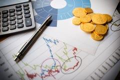 Munt, die rekening en investering bewaren Royalty-vrije Stock Foto