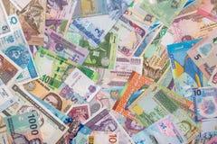 Munt en bankbiljetten van wereld Stock Foto