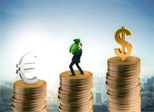 Munt en geldconcept Royalty-vrije Stock Afbeeldingen