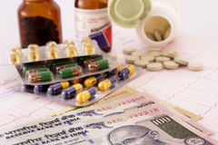 Munt en geneeskunde Royalty-vrije Stock Fotografie