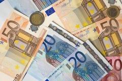 Munt-Europees-unie Royalty-vrije Stock Foto's