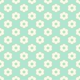 Munt Groen Naadloos Patroon met Lichtgele Bloemen Royalty-vrije Stock Foto's