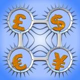 Munt symbols_03 Stock Afbeelding