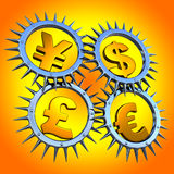 Munt symbols_01 Stock Afbeelding