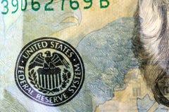 Munt Twintig Dollar Miljard van de V.S. Stock Foto