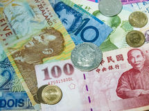 Munt uit de hele wereld Stock Fotografie