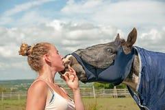 Munt voor een kus Stock Foto's
