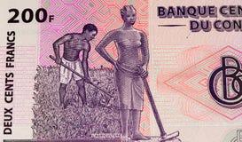 Muntbankbiljet van Afrika Royalty-vrije Stock Foto's