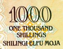 Muntbankbiljet van Afrika Stock Afbeelding