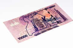 Muntbankbiljet van Afrika Stock Afbeeldingen
