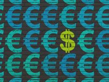 Muntconcept: dollarpictogram op muurachtergrond Royalty-vrije Stock Foto