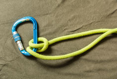 Munter hitch - knot. Stock Images