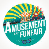 Munterhet och funfair royaltyfri illustrationer