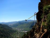 Munterhetritt över bergdalen Arkivbilder