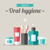 Muntlig hygien royaltyfri illustrationer