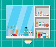 Muntliga omsorg- och hygienprodukter stock illustrationer