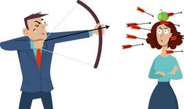 Muntligt missbruk vektor illustrationer