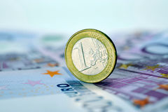 Muntstuk één EURO Royalty-vrije Stock Fotografie