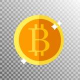 Muntstuk bitcoin op een transparante achtergrond Royalty-vrije Stock Afbeeldingen