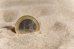 Muntstuk en financiële crisis Stock Foto's