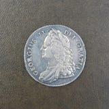Muntstuk - Kroon van Koning George II Royalty-vrije Stock Foto