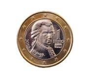 Muntstuk met een waarde van één euro Royalty-vrije Stock Afbeeldingen