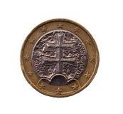 Muntstuk met een waarde van één euro Royalty-vrije Stock Foto's