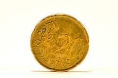Muntstuk van cent twintig van de euro Stock Fotografie
