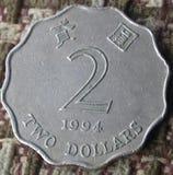 Muntstuk van Hongkong Royalty-vrije Stock Fotografie