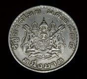 Muntstuk van Thailand, macro Royalty-vrije Stock Foto's