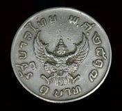 Muntstuk van Thailand, macro Royalty-vrije Stock Foto