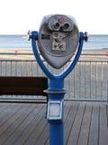 Muntstuk In werking gestelde Beeldzoeker Omvat Mening van Promenade en Oceaan in Santa Cruz, Californië Stock Foto