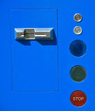 Muntstuk in werking gestelde parkeerterreinautomaat Royalty-vrije Stock Afbeeldingen