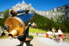 Muntstuk in werking gestelde telescoop Stock Fotografie