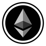 Muntstukcrypto munt Ethereum, crypto van de pictogram digitale ether munt Ethereum royalty-vrije illustratie