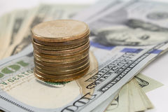 Muntstukken en bankbiljetten Royalty-vrije Stock Afbeelding