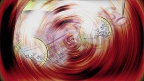 Muntstukken en bankbiljetten van het euro draaien