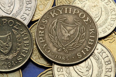 Muntstukken van Cyprus Stock Afbeelding
