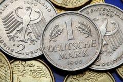 Muntstukken van Duitsland Stock Foto
