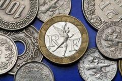 Muntstukken van Frankrijk Royalty-vrije Stock Afbeelding